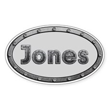 Jones Metal Oval Decal