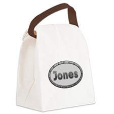 Jones Metal Oval Canvas Lunch Bag