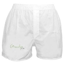Grandpa To Be (Green Script) Boxer Shorts