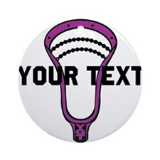 Lacrosse Head Pers LPurple Ornament (Round)