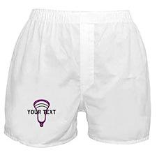 Lacrosse Head Pers LPurple Boxer Shorts