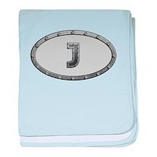 J Metal Oval baby blanket