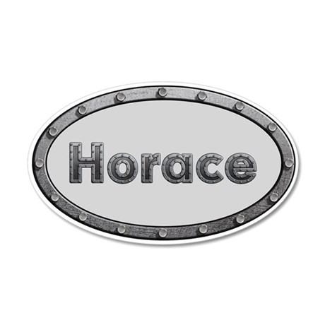 Horace Metal Oval Wall Decal