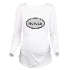Horace Metal Oval Long Sleeve Maternity T-Shirt