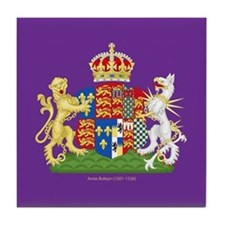 Anne Boleyn Coat of Arms Tile Coaster