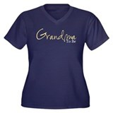 Grandma To Be (Yellow Script) Women's Plus Size V-