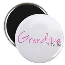 "Grandma To Be (Pink Script) 2.25"" Magnet (100 pack"