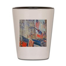 Allies Day, May, 1917 by Hassam Shot Glass