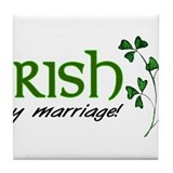 irish marriage Tile Coaster