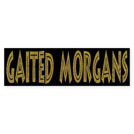 Natural Gaited Morgan Horse bumper sticker
