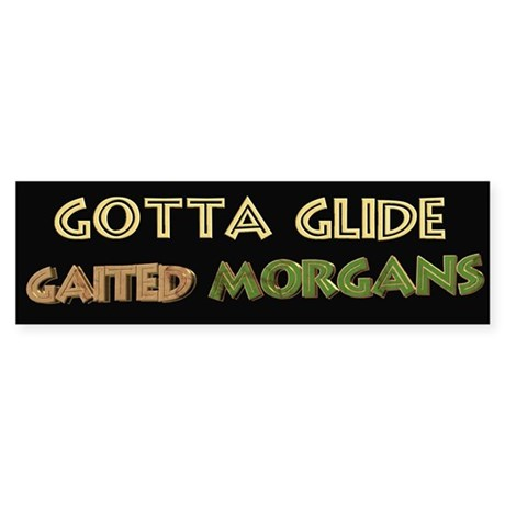 naturally gaited morgan horse bumper stickers
