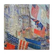 Allies Day, May, 1917 by Hassam Tile Coaster