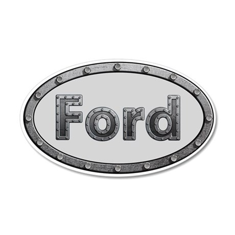 Ford Metal Oval Wall Decal