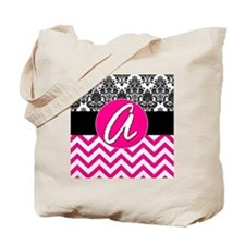 A Pink Monogram  Tote Bag