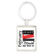 Heart Disease Month Portrait Keychain