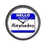 hello my name is alexandro  Wall Clock