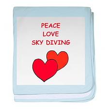 sky diving baby blanket