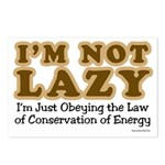 Not Lazy Postcards (Package of 8)