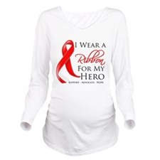 AIDS Hero Long Sleeve Maternity T-Shirt