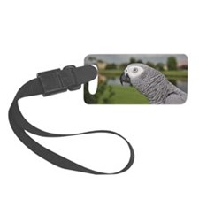 African Grey Parrot lake view Luggage Tag
