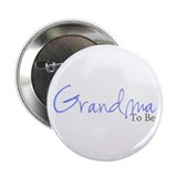Grandma To Be (Blue Script) Button