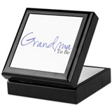 Grandma To Be (Blue Script) Keepsake Box