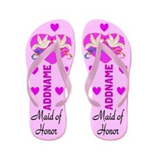 Maid Of Honor Love Flip Flops