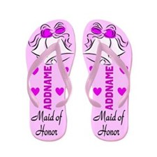 Maid Of Honor Bells Flip Flops