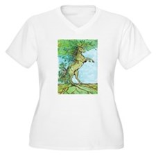 Wood Horse Plus Size T-Shirt