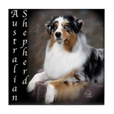 Australian Shepherd-Blue Tile Coaster