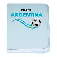 Soccer 2014 ARGENTINA 1 baby blanket