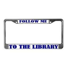 Library License Plate Frame