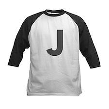 Letter J Dark Gray Baseball Jersey