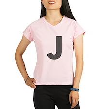 Letter J Dark Gray Performance Dry T-Shirt