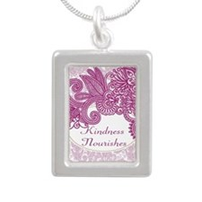 Kindness Nourishes Silver Portrait Necklace