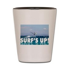 Surfs Up Windsurfer in the Air Shot Glass