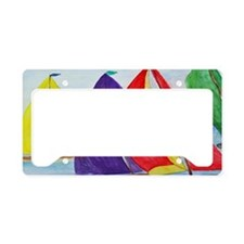 Colorful Sails License Plate Holder