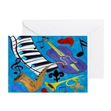 Jazz Art Greeting Card
