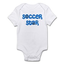 Blue Soccer  Infant Bodysuit
