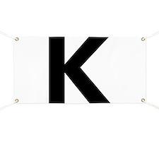 Letter K Black Banner