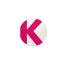 Letter K Pink Mini Button (100 pack)