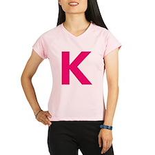 Letter K Pink Performance Dry T-Shirt