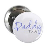 "Daddy To Be (Blue Script) 2.25"" Button (100 pack)"