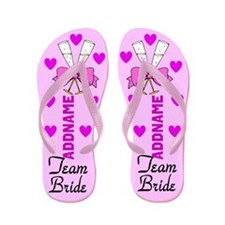 Sweet Team Bride Flip Flops