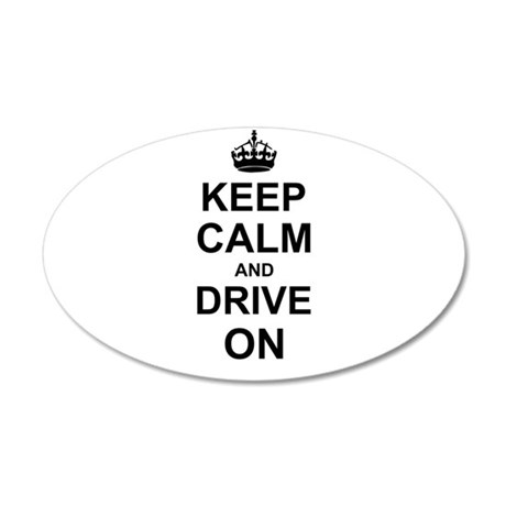 Keep Calm and Drive on Wall Sticker