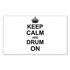 Keep Calm and Drum on Decal