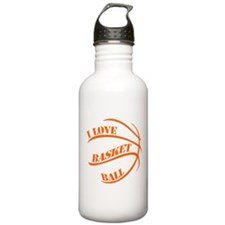i love basketball Water Bottle