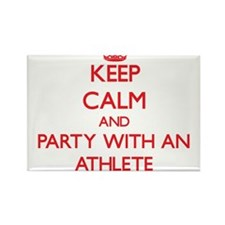 Keep Calm and Party With an Athlete Magnets