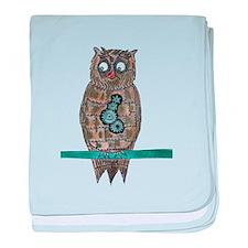 Steam Punk Owl baby blanket