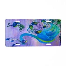 Peacock Art Aluminum License Plate